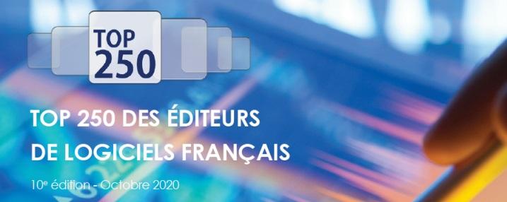 AXEGE Groupe MEDIANE-ADMILIA à la 136e place du Top 250 des éditeurs de logiciels